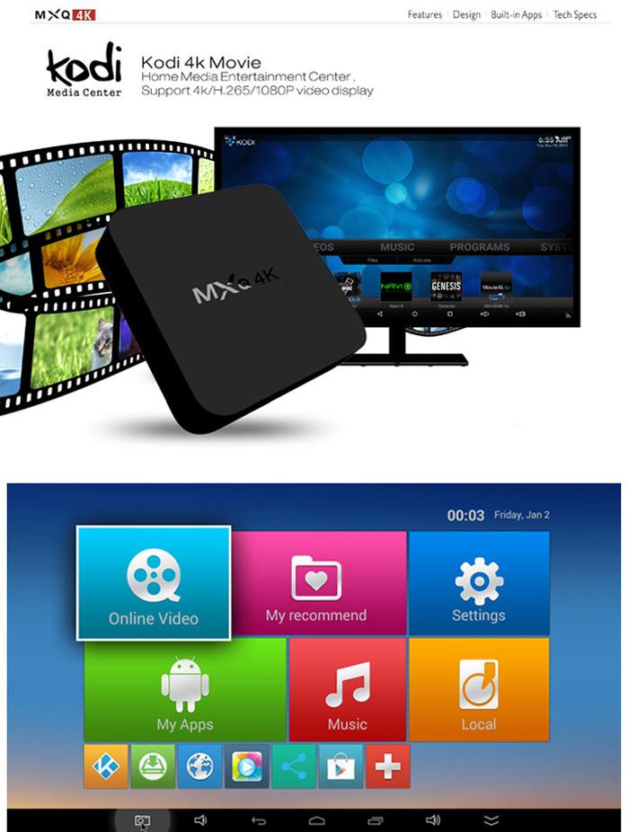 box tv 4k mxq base rk3229 compatible hevc 10 bits. Black Bedroom Furniture Sets. Home Design Ideas