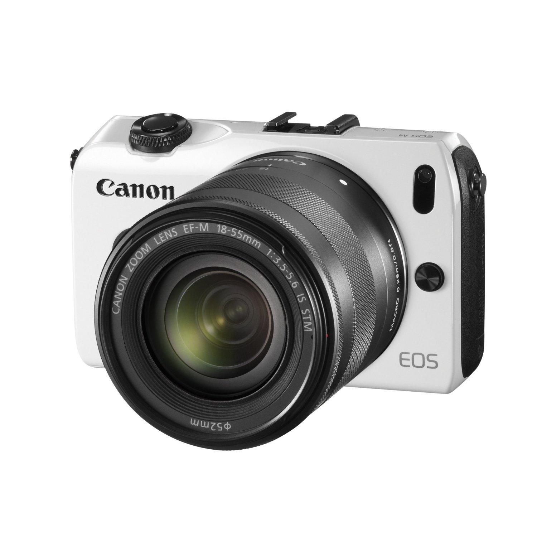 bon plan appareil photo hybride eos m canon blanc kit 18 55 703 vente flash plan te num rique. Black Bedroom Furniture Sets. Home Design Ideas