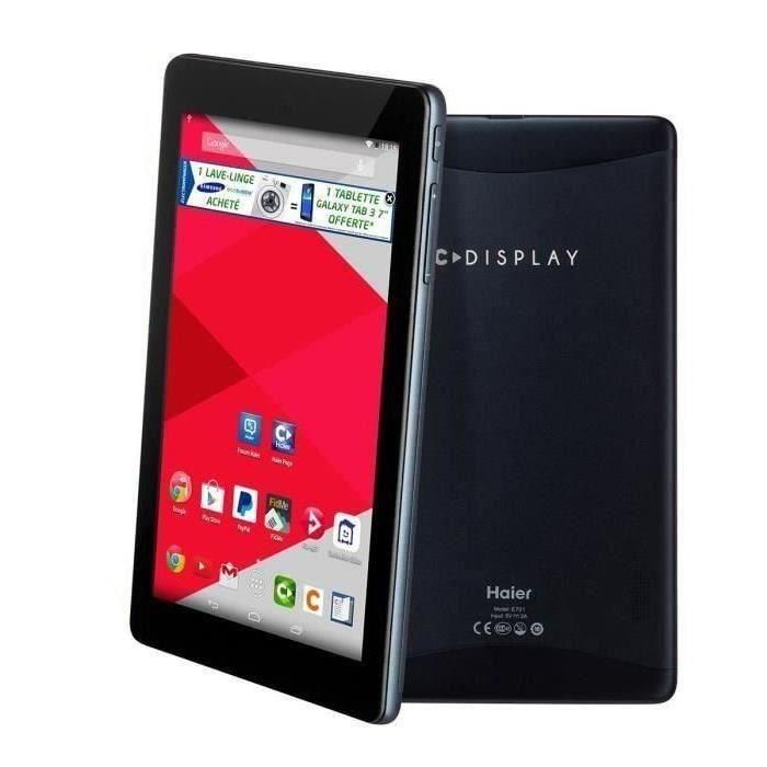 bon plan soldes tablette cdisplay e701 cdiscount haier quad core et ips pour 29 99 plan te. Black Bedroom Furniture Sets. Home Design Ideas