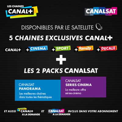 abonnement canal plus canalsat en vente priv e prix brad. Black Bedroom Furniture Sets. Home Design Ideas