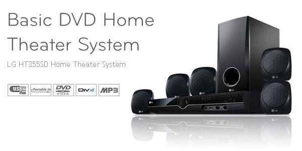 bon plan 59 90 livr le home cin ma dvd 5 1 lg ht 355sd plan te num rique. Black Bedroom Furniture Sets. Home Design Ideas