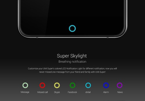 Les couleurs possibles de la diode de notification