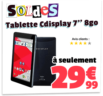 Tablette CDisplay E Cdiscount