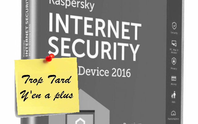 Kaspersky Internet Security 2016 3 PC 1 an à seulement (...)