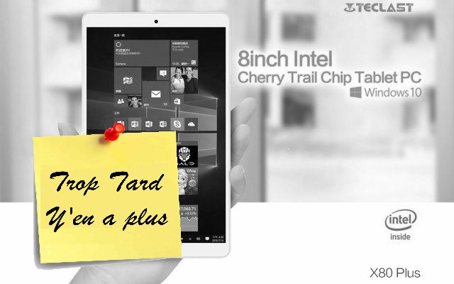 Tablette Teclast X80 Plus, Windows 10 et Android 5.1 (...)