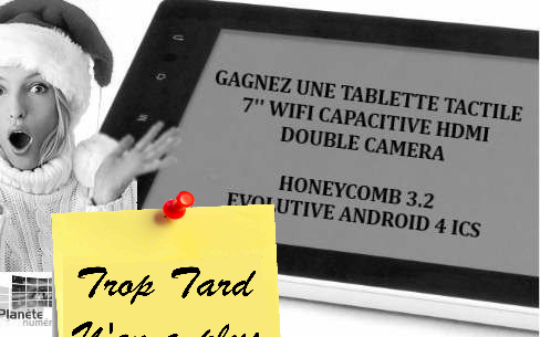 Gagnez une tablette tactile Ainol Novo7 Basic Honeycomb (...)