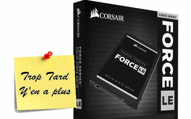 Disque SSD Corsair Force Series LE 240GB à 59€99 (...)
