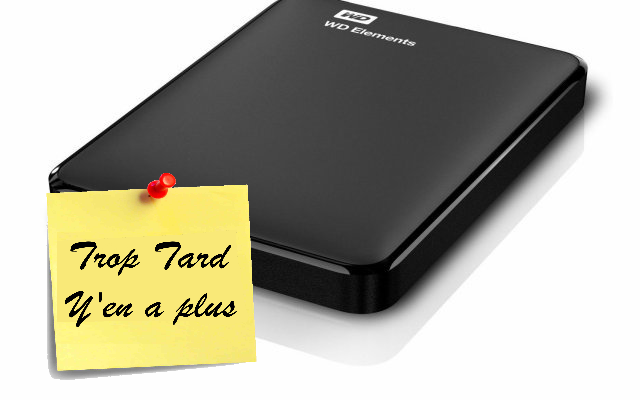 Disque dur portable Western Digital Elements USB 3 ,1TO (...)