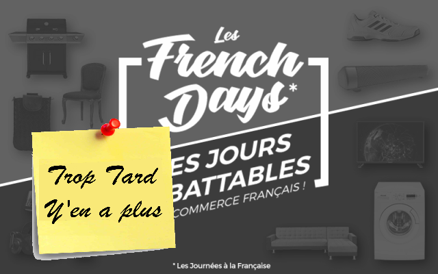 Les fil des offres du French Day 2019 , le Black Friday (...)