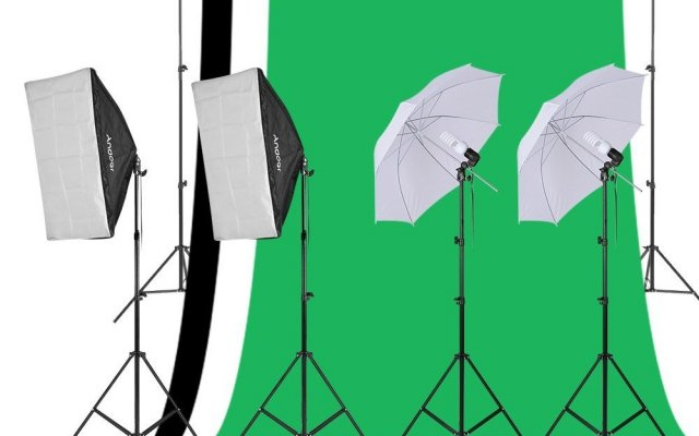 Kit studio Photo Andoer complet, fond, support, (...)