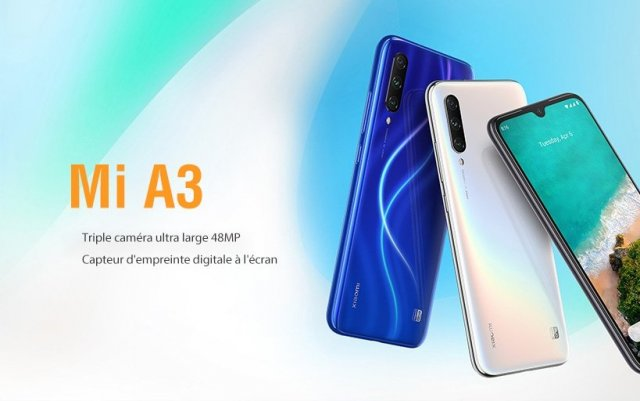 Xiaomi MI A3 version 64GO, smartphone Android ONE sous (...)