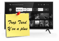 Deal expiré TV TCL 32ES560 LED HD avec Android TV à 192€99