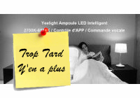 Deal expiré Ampoule connectée Yeelight YLDP05YL E27 blanche 12€60 (...)