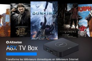 Box TV 4K Alfawise A8X, RK3328 et Android 9